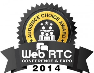 Audience Choice Award at WebRTC