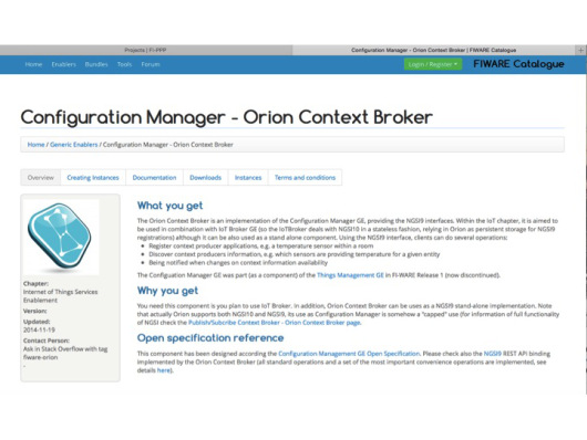 Orion Context Broker