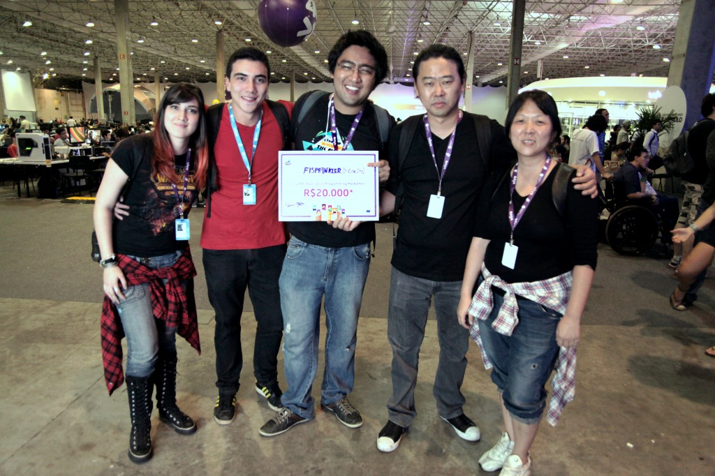 Winners of FIWARE hackathon in Campus Party